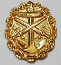 Imperial Naval Wound Badge - 1st Class