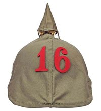 Regimental Number For Pickelhaube Cover - Red