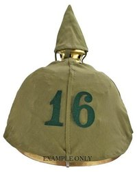 Regimental Number For Pickelhaube Cover - Green