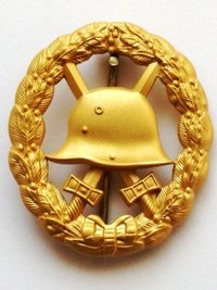 Imperial Army Wound Badge, Cut-out Version - 1st Class