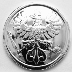 Sergeanten Rank Button - Silver