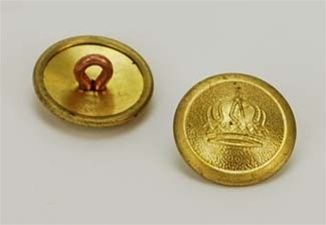 1910 Rimmed Crown Buttons - 19mm